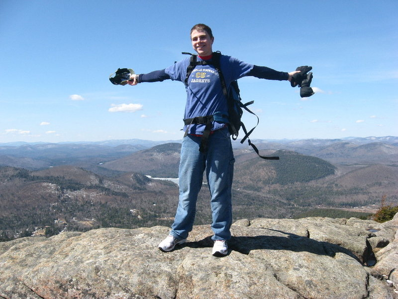 Rock Climbing Photo: David Ferkaluk on Crane Mtn's summit.