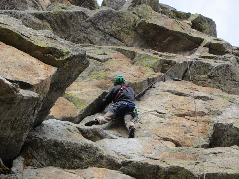 Rock Climbing Photo: Ross, about to feel a little pump.