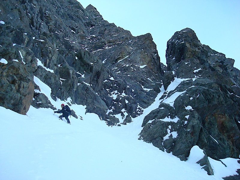 Richard on the entrance of the couloir