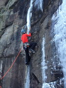 Rock Climbing Photo: Leading Ispinne during Bø Open Ice