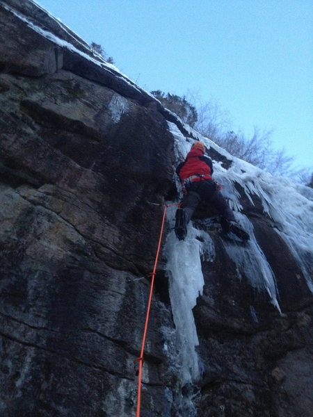 Rock Climbing Photo: Frederik on Ispinne during Bø Open Ice