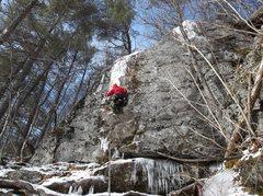 Rock Climbing Photo: Ryan doing the first crux.