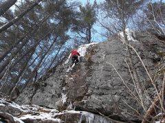 Rock Climbing Photo: Ryan leading.