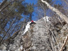 Rock Climbing Photo: Second crux and I thought it to be the hardest.