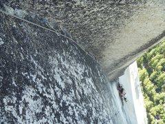 Rock Climbing Photo: P8 corner A2