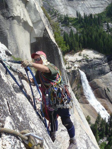 Rock Climbing Photo: Great views on P9 traverse