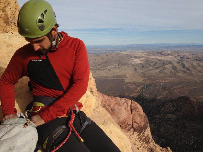 Rock Climbing Photo: Top of Rainbow Buttress
