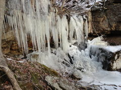 Rock Climbing Photo: Frozen waterfall
