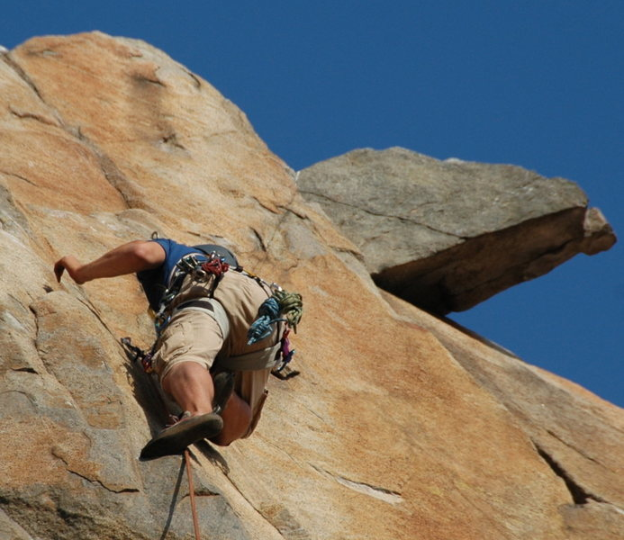 Rock Climbing Photo: Cruising on some easy Mission Gorge 5.6