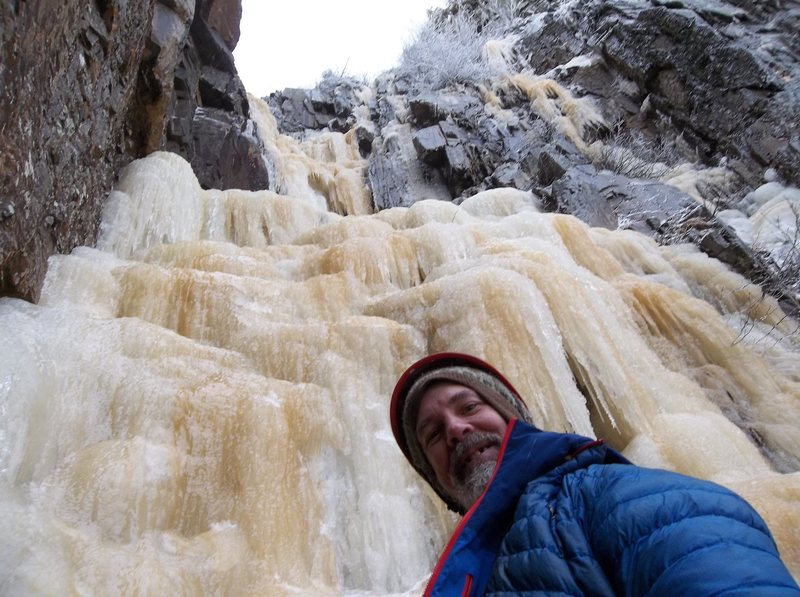 Rock Climbing Photo: Bradley White ready for pitch 3.