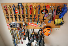 Rock Climbing Photo: My modest rack as of January 2013. New stuff racke...