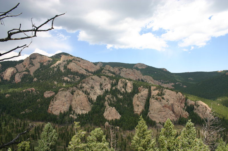 Black Mountain Crags, Staunton Rocks, and Sawmill Crags.<br> <br> Photo by A. Peterson.