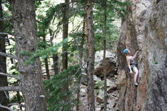Rock Climbing Photo: Amanda Peterson on the FA of Ginger Snap.