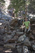Rock Climbing Photo: Some trail stewardship heading into the Tan Corrid...