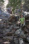 Rock Climbing Photo: Some trail stewardship heading into the Tan Corrid...