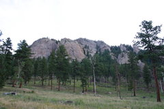 Rock Climbing Photo: Park View Dome on the left, The Ranch Hand on the ...