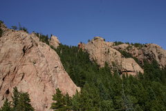 Rock Climbing Photo: (L -> R) Bombardier Dome, Marmot Tower, The Dun...