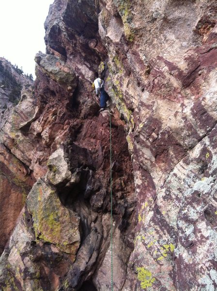 Rock Climbing Photo: From the top of Reggae, you can traverse left to t...