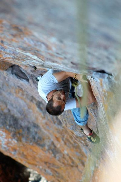 Rock Climbing Photo: Me climbing Poseidens Adventure