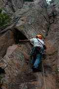 Rock Climbing Photo: Me placing some Gear on KGB.