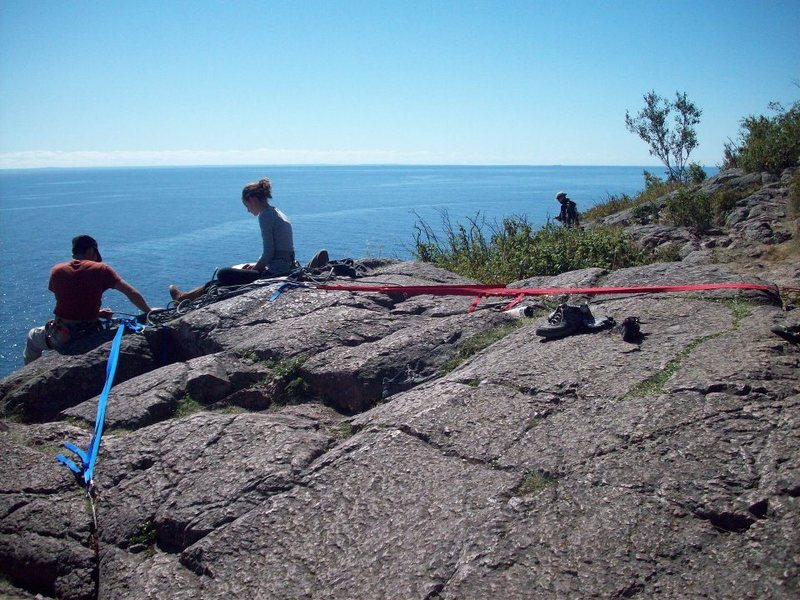 An Idea of what you may have to do for some anchors depending where you're at on Palisade Head.