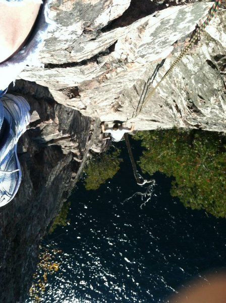 Rock Climbing Photo: I believe my friend and I coined this route Barefo...