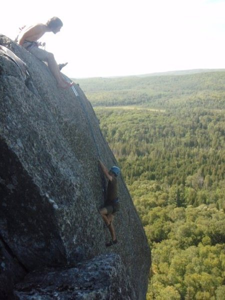 One of the slabish climbs at section 13.