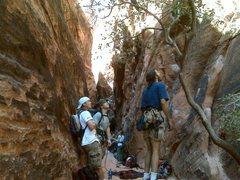 Rock Climbing Photo: At the entrance of the Black Corridor.