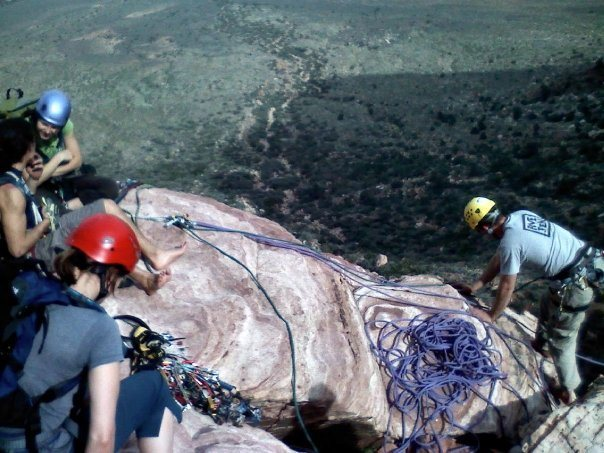 Rock Climbing Photo: second pitch of Geronimo
