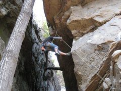 Rock Climbing Photo: Me failing to get through the crux on Mine Mine Mi...