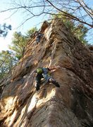 Rock Climbing Photo: Me and a buddy climbing something at Horeshoe Cany...