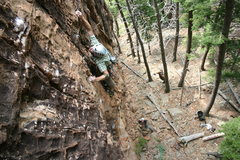 Rock Climbing Photo: Dave Montgomery on his tough mixed line, Welcome t...