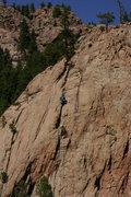 Rock Climbing Photo: Matt Clark on Bombardier Dome.