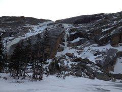 Rock Climbing Photo: January 26, 2013. NEW ICE! I've climbed in the Bla...