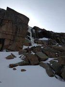Rock Climbing Photo: Approaching the Black & Tan corner.