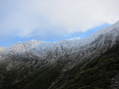 Rock Climbing Photo: (January 2013) The ridge in advection frost - impo...