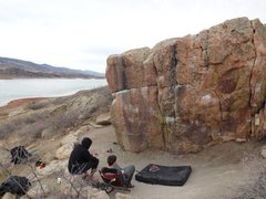 Rock Climbing Photo: South West face of the Penny Pitch Boulder.