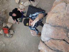 Rock Climbing Photo: Mid-flight.