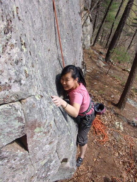 Sonia Shultis on the First crux, start of Asian School Girls