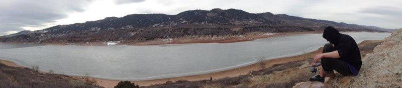 Horsetooth on a cloudy January day.
