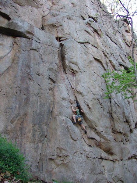 Rock Climbing Photo: Hannah Sanchez following Birth Canal