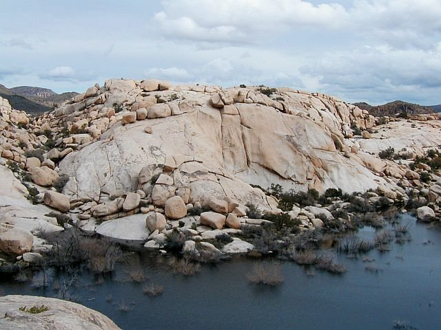 Lakeside Rock from atop Rat Rock, Joshua Tree NP