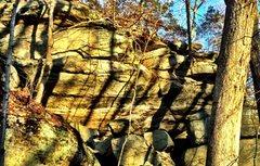 Rock Climbing Photo: The upper cave.