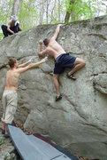 Rock Climbing Photo: Scott Dahl working it.