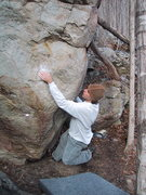 Rock Climbing Photo: Philip Mothena cruising Firepole Arete