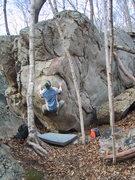 Rock Climbing Photo: Colin on Firepole Arete