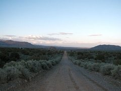 Rock Climbing Photo: The road to adventure, Mojave NP
