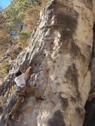 Rock Climbing Photo: Bamm-Bamm, 5.9. Flinstones Wall. Sunshine Wall, Sp...