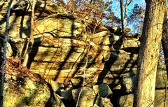 Rock Climbing Photo: Red line