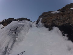 Rock Climbing Photo: Last pitch of ice on All Mixed Up.